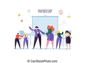 ビジネス 取り引き, 人々, 成功した, 動揺, concept., 協力, 握手, 合意, イラスト, ベクトル, negotiations., 特徴, ミーティング, hands.
