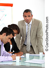 ビジネス 同僚, 上に, a, 職業である, 訓練