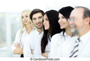 ビジネス, 地位, 横列, グループ, 多様, 内容