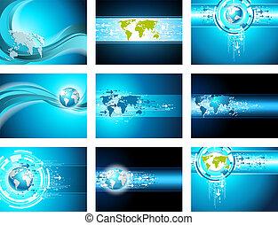 ビジネス, 地図, 背景, サイト, 矢