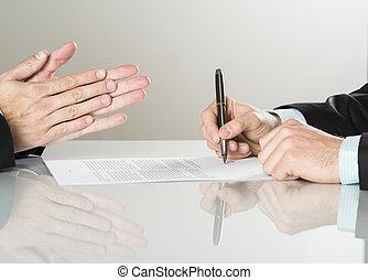 ビジネス, 契約