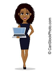 ビジネス 女, アメリカ人, アフリカ