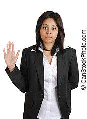 ビジネス 女, 約束すること, ∥で∥, 上がる 手