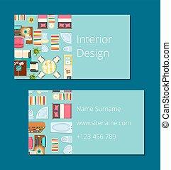 ビジネス 実例, ベクトル, デザイン, 内部, カード
