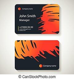 ビジネス 実例, ベクトル, 流行, template., カード