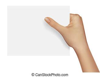 ビジネス 実例, 手, ベクトル, object., 保有物