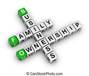 ビジネス, 家族, 所有権