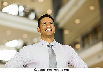 ビジネス, 年齢, 経営者, 中央の, の上, 見る