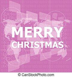 ビジネス, 幸せ, カード, web ページ, テンプレート, banner., アプリケーション, クリスマス, ベクトル, デザイン, 新しい, design., year., モビール, 陽気, 背景, イラスト, infographic, 創造的, 概念