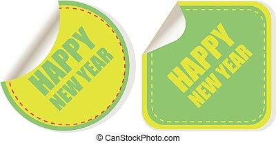 ビジネス, 幸せ, カード, web ページ, テンプレート, banner., アプリケーション, ベクトル, 新しい, デザイン, 年, design., モビール, 背景, イラスト, infographic, 創造的, 概念