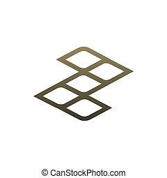 ビジネス, 幾何学, ブランド, shapes., ロゴ, 網, 独特, あなたの