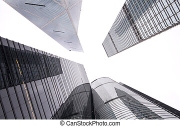 ビジネス, 建物, 現代, 超高層ビル, 光景, 将来, 中心, 新しい