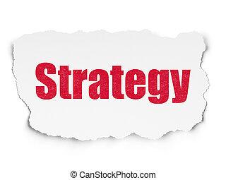 ビジネス, 引き裂かれた, 作戦, ペーパー, 背景, concept: