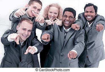 ビジネス, 成功した, 提示, チーム, 前方の手, インターナショナル