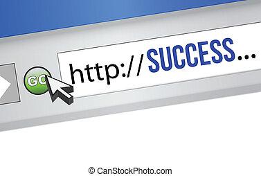 ビジネス, 成功, オンラインで