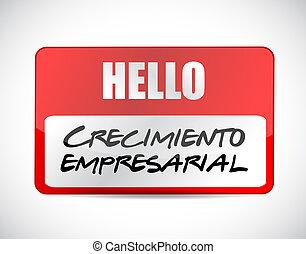 ビジネス 成長, 印, 中に, spanish.