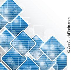 ビジネス, 抽象的なデザイン, 背景, ブランク, 正方形, カード