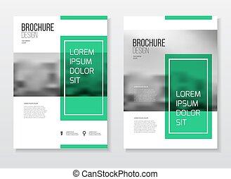 ビジネス, 抽象的, ベクトル, デザイン, a4, テンプレート, パンフレット, 大きさ