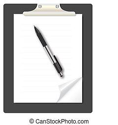 ビジネス, 抽象的, リスト, ペン, イラスト, 主題, ベクトル, アイコン