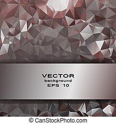 ビジネス, 抽象的, pattern., 水晶, デザイン, 銀