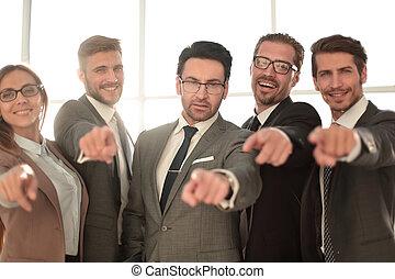 ビジネス, 指すこと, 多様, チーム, あなた, 微笑