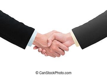 ビジネス, 握手, そして, ビジネス 人々, concepts.