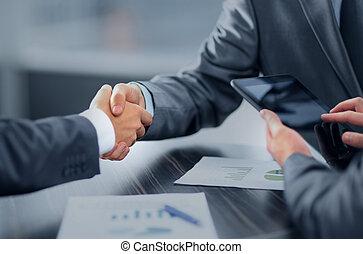 ビジネス, 握手