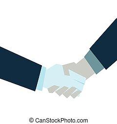 ビジネス, 握手, 白い背景