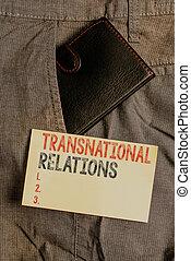 ビジネス, 政治, 前部, 外交, 世界的である, インターナショナル, 執筆, paper., 札入れ, showcasing, relations., ポケット, 多国籍組織, 提示, 写真, 小さい, 中, trouser, メモ, 表示法, 関係