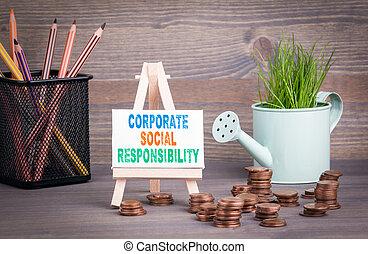 ビジネス, 春, concept., 水まき, ミニチュア, 新たに, 緑, 社会, 小さい, 責任, 草, 企業である, ポット, 変化しなさい
