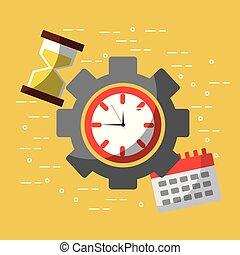 ビジネス, 時間, 仕事, ガラス, 時間, カレンダー