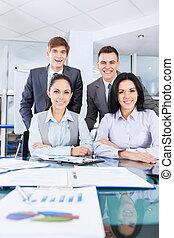 ビジネス, 机, オフィス, 働いている人達