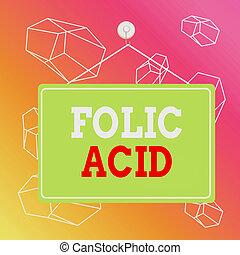 ビジネス, 板, acid., folic, rectangle., 執筆, 付加, 余白, 有色人種, メモ, テキスト, b, ビタミン, メモ, 複合センター, 概念, 葉が多い野菜, 単語, 緑, 見いだされた, 空, 背景