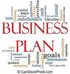 ビジネス 概念, 単語, 計画, 雲