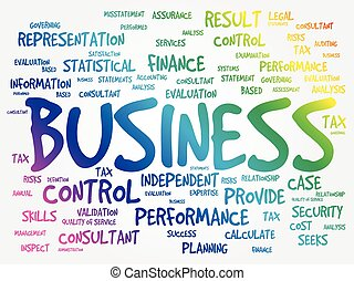 ビジネス 概念, 単語, 雲