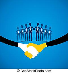ビジネス 概念, 取引, 契約, ∥あるいは∥