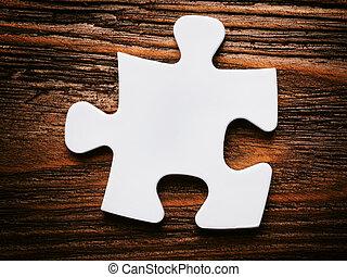 ビジネス, 欠けている, concept., 置くこと, puzzle., 小片