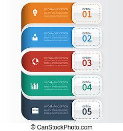 ビジネス, 現代, オプション, テンプレート, infographics