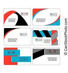 ビジネス, 現代, コレクション, テンプレート, 流行, カード