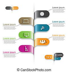 ビジネス, 現代, infographic, デザイン, あなたの, テンプレート