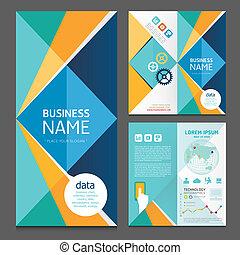 ビジネス, 現代, template., パンフレット, ベクトル, デザイン