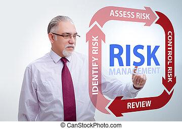 ビジネス, 管理, 危険, 概念, 現代