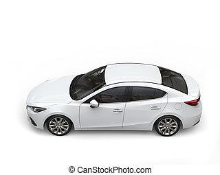 ビジネス, 自動車, ゆとり, 現代, -, 速い, 下方に, 白いトップ, 光景