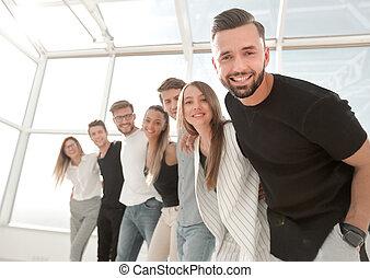 ビジネス, 若い, オフィスの チーム, 地位