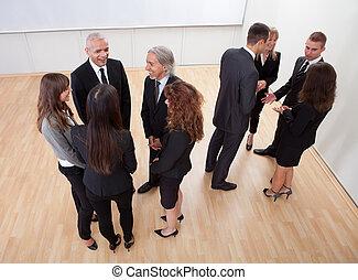 ビジネス, 談笑する, 人々