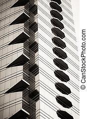 ビジネス, 超高層ビル, 抽象的, クローズアップ