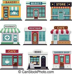 ビジネス, 都市, 小売店, 店