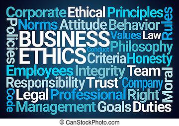 ビジネス, 雲, 単語, 倫理