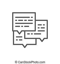 ビジネス, 電子メールメッセージ, 会話, icon., 線