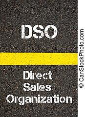 ビジネス, 頭字語, 監督しなさい, 販売, dso, 構成